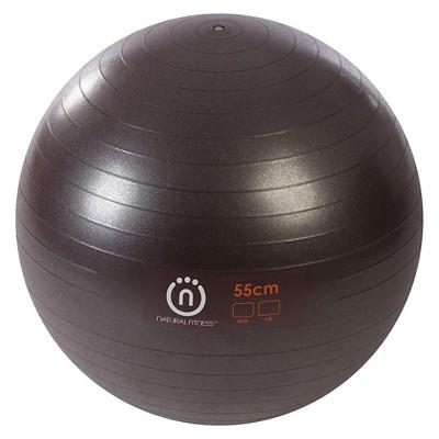 Natural Fitness 300-lb. Burst Resistant Exercise Ball - 55cm, Plum