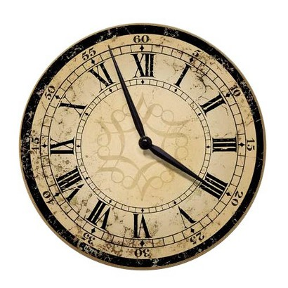 Decorative Ecru Architectural Wall Clock