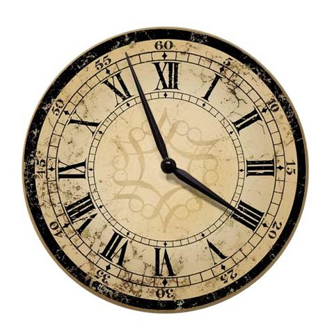 Decorative Ecru Architectural Wall Clock