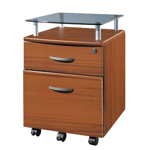 Techni Mobili Rolling and Locking File Cabinet - Brown