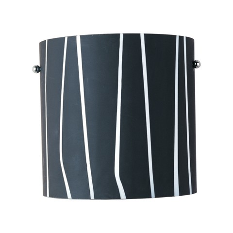 1-Light Wall Sconce - Black/White