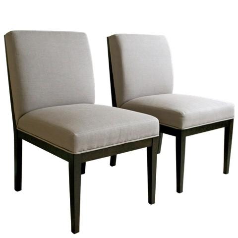 Wholesale Interiors 2 Piece Anastasie Dining Chair - Dark Taupe