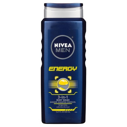 NIVEA for Men Energy 3-in-1 Body Wash - 16.9 oz