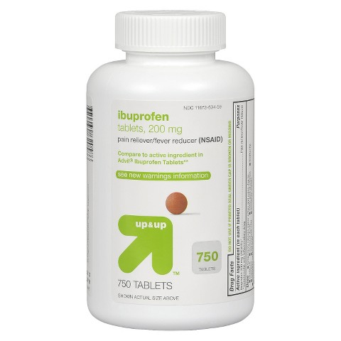 up & up™ Ibuprofen Pain Reliever/Pain Reducer 200mg Tablets - 750 Count