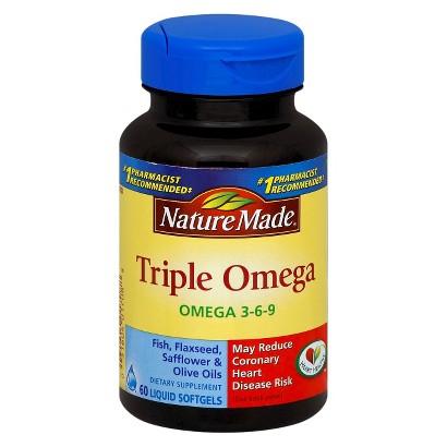 Nature Made Triple Omega liquid Softgels