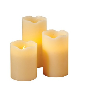 Set of 3 Flameless Pillar Candles