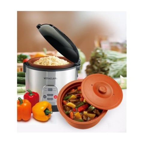 VitaClay 2-in-1 Rice 'N Slow Cooker