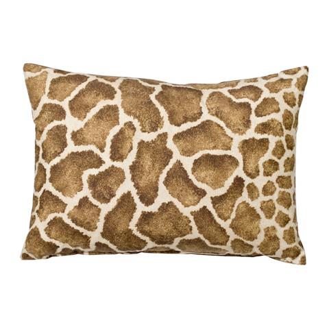 "Giraffe Decorative Lumbar Pillow -14x20"""