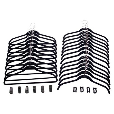 Huggable Hangers 34 pc Combo Pack - Black