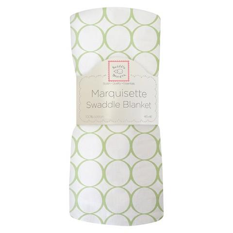 Swaddledesigns Marquisette Swaddling Blanket Pastel Mod Circle, Kiwi