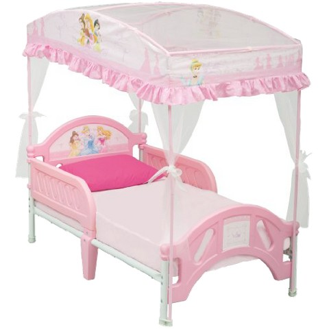 Delta Children Toddler Canopy Bed – Disney Princess