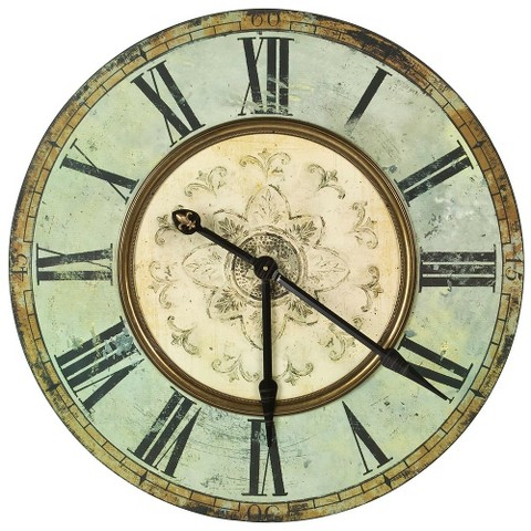 oversized wooden wall clock antique blue target