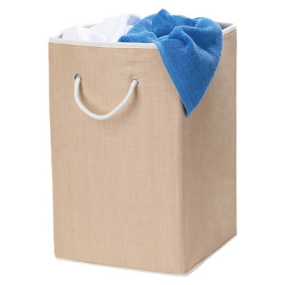 Woven Hamper with Rope Handle - Tan