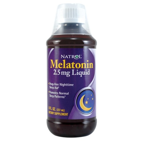 Natrol Melatonin Liquid-8oz bottle