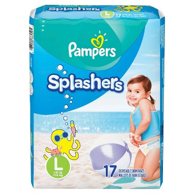 Pampers Splashers Disposable Swim Pants - Size 6 (21 Count)