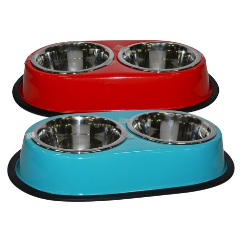 Boots barkley double diner cat bowl colors target for Target fish bowl