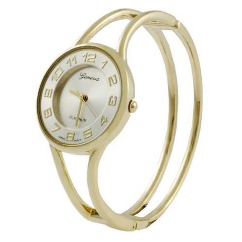 Women's Geneva Platinum Bangle Watch