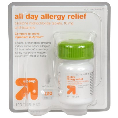 up&up All Day Allergy Relief 10 mg Cetirizine Hydrochloride Antihistamine Tablets