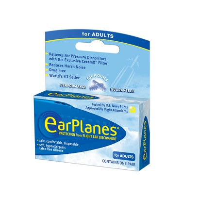EarPlanes Pressure Regulating Earplugs