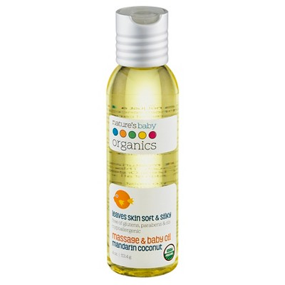 Nature's Baby Organics Organic Baby Oil (Mandarin/Coconut)-4 oz.