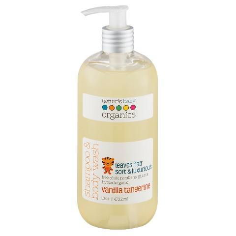 Nature's Baby Organics Shampoo & Body Wash (Vanilla/Tangerine)-16 oz.