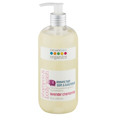 Nature's Baby Organics Shampoo & Body Wash (Lavender/Chamomile)-16 oz.