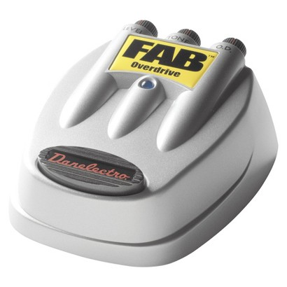 Danelectro FAB Overdrive Pedal - Silver (D2)
