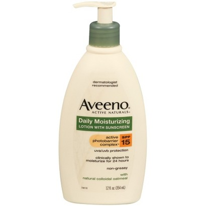 Aveeno Daily Moisturizing Lotion with Broad Spectrum SPF 15