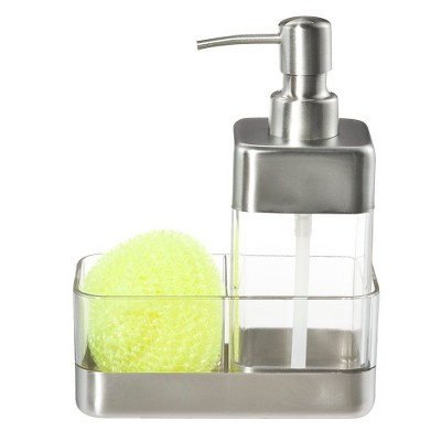 Oggi Pump Dispenser and Scrubby Holder - Clear