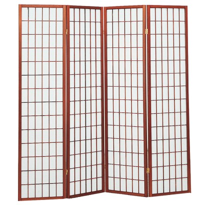 4 Panel Shoji Screen - Cherry