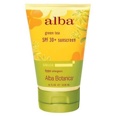 Alba Hawaiian Green Tea Sunscreen SPF 45- 4oz