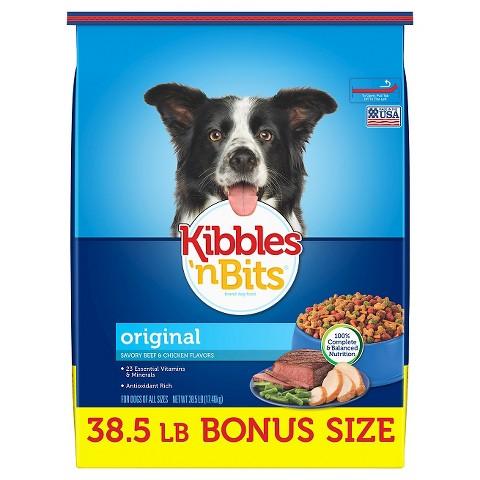 Kibbles 'n Bits Savory Beef & Chicken Flavor Dog Food - 35 lb.
