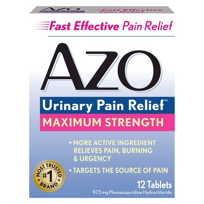 AZO Standard UTI Treatment - 12 Count