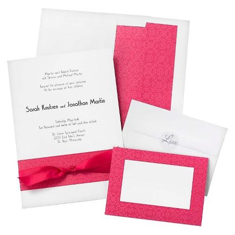Fuchsia Band Wedding Invitations (50 count)