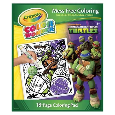 Crayola Color Wonder Teenage Mutant Ninja Turtles Refill Book
