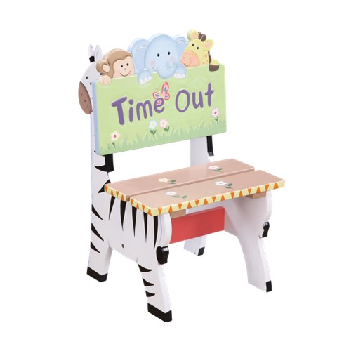 Teamson Sunny Safari Time Out Chair - Green/ Yellow
