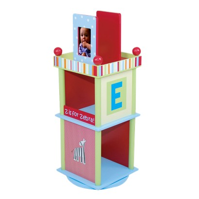 Levels of Discovery Alphabet Soup Revolving Bookcase - Blue/ Green