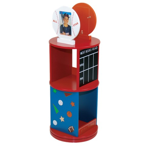 Levels of Discovery All Star Sports Revolving Bookcase - Red