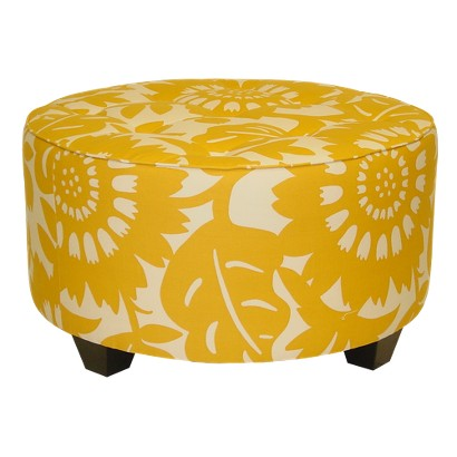 Skyline Furniture Gerber Round Ottoman - Sungold