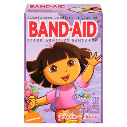 Band-Aid Dora The Explorer Brand Adhesive Bandages - 25 Count