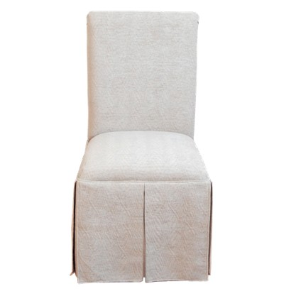 4D Concepts Skirted Parsons Chair - Taupe
