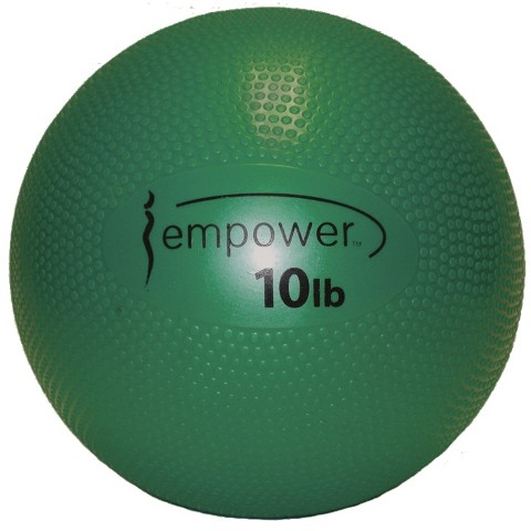 Empower Soft Medicine Ball with DVD - Green (10 lbs.)