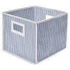 Badger Basket Company Folding Basket and Storage Cube in Blue