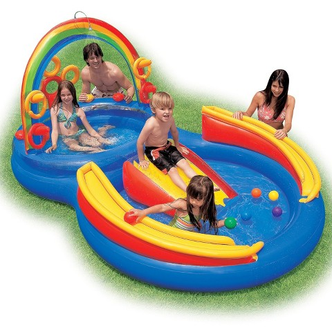Intex Kids Rainbow Ring Play Center Pool