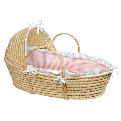 Badge Baby Hooded Moses Basket