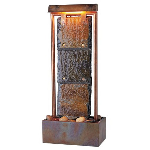 Montpelier Natural Slate Table Fountain - Copper Finish