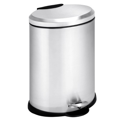 Honey-Can-Do 3.2 Gallon Oval Satin Nickel Step Trash Can - Threshold™