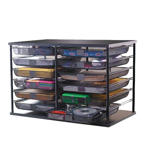 Rubbermaid 12 compartment metal organizer - Rubbermaid desk organizer ...
