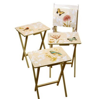 Nature's Wonder TV Tray Set with Stand