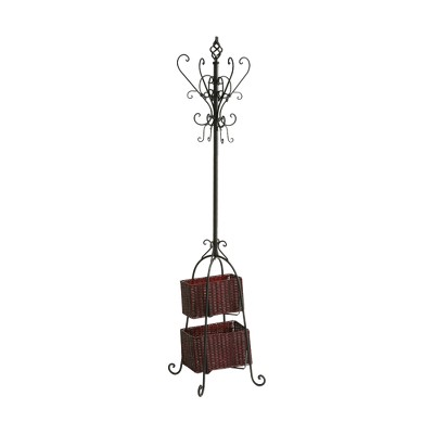 Southern Enterprises Freestanding Coat Rack - Black